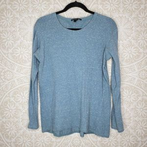 Theyskens Theory Blue Cotton Long Sleeve Tee